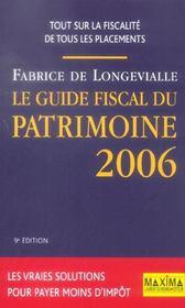 Le Guide Fiscal Du Patrimoine 2006 - Intérieur - Format classique