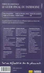 Le Guide Fiscal Du Patrimoine 2006 - 4ème de couverture - Format classique