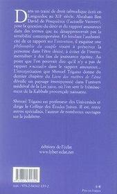 L'intention d'amour ; désir et sexualité dans les maîtres de l'âme de r. abraham ben david de posquiéres - 4ème de couverture - Format classique