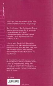 Un chouia d'amour fou - 4ème de couverture - Format classique