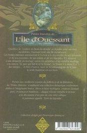 Petites Histoires De... ; Petites Histoires De L'Ile D'Ouessant - 4ème de couverture - Format classique