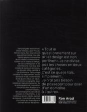 Ron Arad - 4ème de couverture - Format classique
