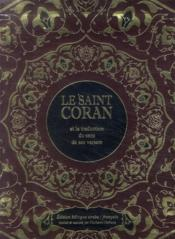 Le saint Coran et la traduction du sens de ses versets - Couverture - Format classique
