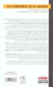 La Competence Au Coeur De La Grh - 4ème de couverture - Format classique