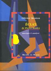 Eclat -De Pierre Boulez - Intérieur - Format classique