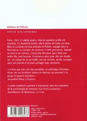 Journal D'Hannah (Le) - 4ème de couverture - Format classique