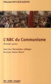 L'abc du communisme ; première partie - Intérieur - Format classique