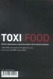 Toxi food - 4ème de couverture - Format classique