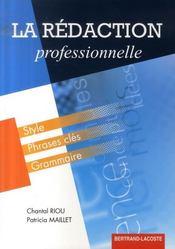 La rédaction professionnelle - Intérieur - Format classique