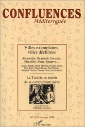 Confluences Mediterranee N10 Printemps 1994 - Couverture - Format classique
