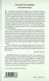 Une Partie De Campagne Et Autres Nouvelles ; An Dousin Kanpay Ek Dot Istwekout - 4ème de couverture - Format classique