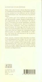 L'ecriture a l'ecoute - 4ème de couverture - Format classique