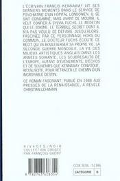 La Folie Kennaway - 4ème de couverture - Format classique
