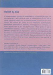 Visions Du Reve - 4ème de couverture - Format classique