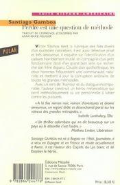 Perdre Est Une Question De Methode - 4ème de couverture - Format classique