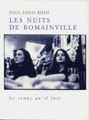 Les Nuits De Romainville - Couverture - Format classique
