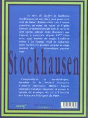 Reve De Lucifer -De Stockhausen - 4ème de couverture - Format classique
