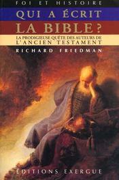 Qui a ecrit la bible - Intérieur - Format classique