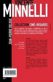 Vincente minelli - 4ème de couverture - Format classique