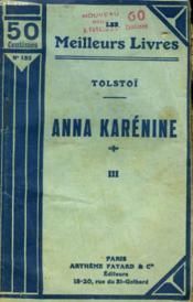 Anna Karenine. Tome 3. Collection : Les Meilleurs Livres N° 152. - Couverture - Format classique