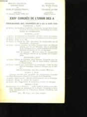 XXIVeme CONGRES DE L'UNION DES A - Couverture - Format classique