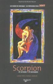 Zodiaques 2007 scorpion - Intérieur - Format classique