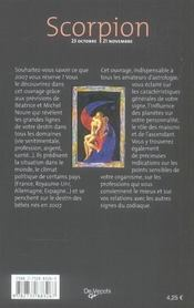 Zodiaques 2007 scorpion - 4ème de couverture - Format classique