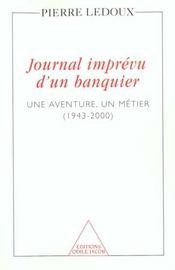 Journal Imprevu D'Un Banquier - Intérieur - Format classique