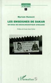 Enseignes De Dakar Un Essaide Sociolinguistique Africa - Couverture - Format classique