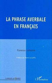 La phrase averbale en français - Intérieur - Format classique