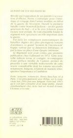 Le Regiment Noir - 4ème de couverture - Format classique