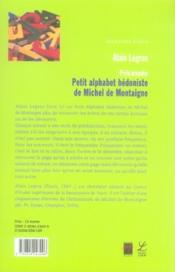 Fricassée ; petit alphabet hédoniste de michel de montaigne - 4ème de couverture - Format classique