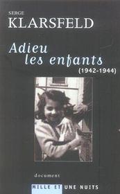 Adieu les enfants (1942-1944) - Intérieur - Format classique