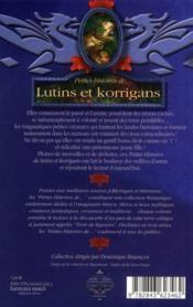Petites histoires de...lutins et korrigans - 4ème de couverture - Format classique