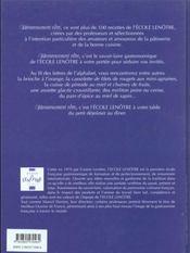 Savoureusement vôtre ; 100 recettes de l'école Lenôtre - 4ème de couverture - Format classique