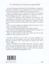 Chemin De Croix Pour Aujourd'Hui - 4ème de couverture - Format classique