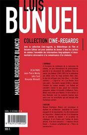 Luis Bunuel - 4ème de couverture - Format classique