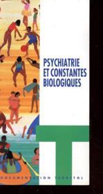 Brochure - Psychatrie Et Constantes Biologiques - Couverture - Format classique
