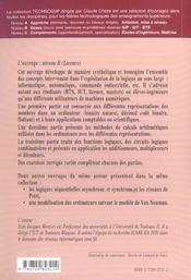 Computers 1 Bit Apres Bit Numeration Arithmetique Binaire Logique Combinatoire - 4ème de couverture - Format classique