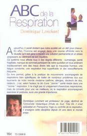 Abc De La Respiration - 4ème de couverture - Format classique