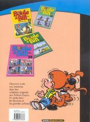 Boule & Bill T.13 ; carnet de Bill - 4ème de couverture - Format classique