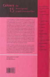 Histoires De Vies Cahiers Musiques N 15 - 4ème de couverture - Format classique