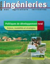 Politiques de développement rural ; enjeux, modalités et stratégies - Couverture - Format classique