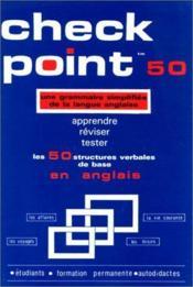 Check point ; une grammaire simplifiée de la langue anglaise - Couverture - Format classique
