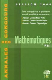 Annales H & K 2000 Mathematiques Psi - Intérieur - Format classique