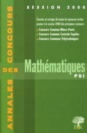 Annales H & K 2000 Mathematiques Psi - Couverture - Format classique