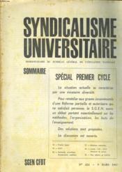 Syndicalisme Universitaire N°424 - Couverture - Format classique