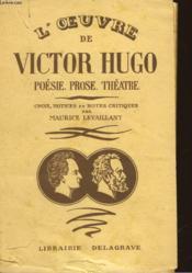 L'Oeuvre De Victor Hugo - Couverture - Format classique