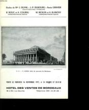 Hotel Des Ventes De Bordeaux - Couverture - Format classique
