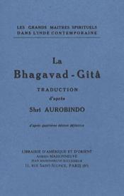 La Bhagavad-gîtâ - Couverture - Format classique